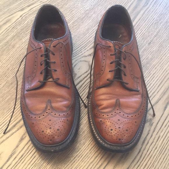 9fe2ab1834fd4 🌲Vintage Florsheim Imperial Wingtip Brown Leather